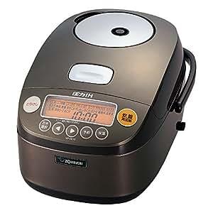 象印 圧力IH炊飯器 鉄器コートプラチナ厚釜 5.5合 ダークブラウン NP-BE10-TD
