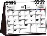 2018年 シンプル卓上カレンダー 月曜始まり A6ヨコ ([カレンダー])