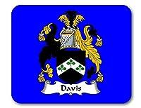 Davis Coat of Arms/Davis家紋マウスパッドby Carpe Diem Designs、アメリカ製 ブルー