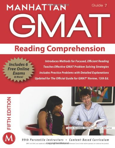 Download Reading Comprehension GMAT Strategy Guide, 5th Edition (Manhattan Gmat Strategy Guide: Instructional Guide) 1935707663