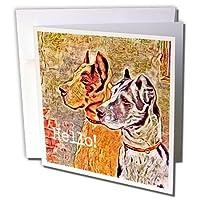 キャッシー・ピーターデジタルアート–Great Dane Hello by Angelandspot–グリーティングカード Set of 6 Greeting Cards