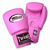Twins ボクシンググローブ 本革製 8オンス ピンク