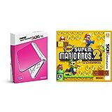 「Newニンテンドー3DS LL ピンク×ホワイト + New スーパーマリオブラザーズ 2 - 3DS セット」の画像