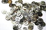 17型黒蝶貝ボタン10mm50個セット シャツボタン用