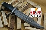 Knife King Damascus Knife ナイフカスタムキングダマスカス手作りハンティングナイフ。レザーシース。トップの品質。