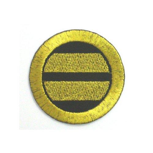 刺繍の家紋ワッペン『家紋「引両紋(丸に二つ引き)」』