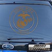 3s MOTORLINE USMC Proud妻デカールステッカーUnited States Marine Corps車ビニールPickサイズカラーDie Cut No背景A 8'' (20.3cm) ブラック 20180326s3