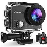 Crosstour アクションカメラ 4K WiFi 超HD 1600万画素 リモコン付き 30M防水 2inchモニター ウェアラブルカメラ 170°広角 バッテリー2つ×1050mAh コンパクト 多種類の撮影モード バイク/自転車/車に取り付け可能 豊富なアクセサリー スポーツカメラ CT9000