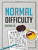 Normal Difficulty Sudoku: Edition 10 - Sudoku Puzzles - Sudoku Puzzle Book with Answers Included