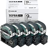 キングジム テープカートリッジ テプラPRO 5個パック 9mm SS9K-5P 白