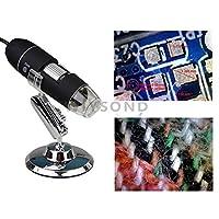 Wiysond 800倍 USB デジタル 顕微鏡 ポータブル 8 LED 40-800X2MP 内視鏡 拡大鏡 カメラ