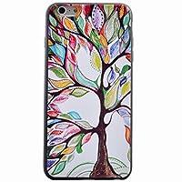 iPhone 6 / iPhone 6s (4.7 inches) カバー ケース Ougger(TM) 超薄型 軟らか TPU カバー シリコーン 衝撃吸収 ゴム 軽量 防護 背面 シェル, カラフルな木