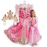 新作 ディズニープリンセス Disney Princess Aurora Costume 2013 子供 キッズ 衣装 コスチューム & ティアラ 2点セット 眠れる森の美女 オーロラ 120 130 Mサイズ 6-8歳