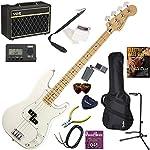 FENDER エレキベース 初心者 入門 メキシコ製 重々しく唸るサウンドのプレシジョンベース 人気のVOX Pathfinder BASS10が入った本格14点セット Player Precision Bass/PWT/M(ポラールホワイト/メイプル指板)
