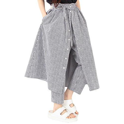 (レイビームス) Ray BEAMS RBS / ストライププリント スカートパンツ 63230073747 73 BLUE 1