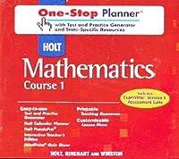One-Stop W/Tst&prac CD-ROM Holt Math C1