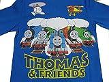 トーマス Tシャツ (青/集合柄) 長袖Tシャツ サイズ100cm 綿100% ジップアップ シャツ トレーナー 子供 キッズ