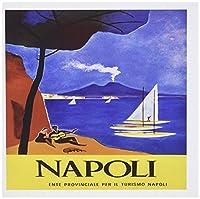 3droseイメージのナポリイタリアのビンテージアート–グリーティングカード、6x 6インチ、6のセット( GC _ 174197_ 1)
