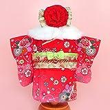 うさももドール 着せ替え人形 服 古典柄赤着物