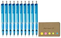 Zebra Delguard機械鉛筆0.5MM、ライトブルーボディ、10枚パック、付箋値設定