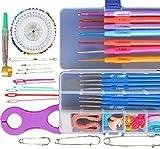 手芸 裁縫セット カラー カギ針 編み 棒針 レース針 編み物 セーター マフラー ニット 帽子 贈物 手作り プレゼントに!RFG86