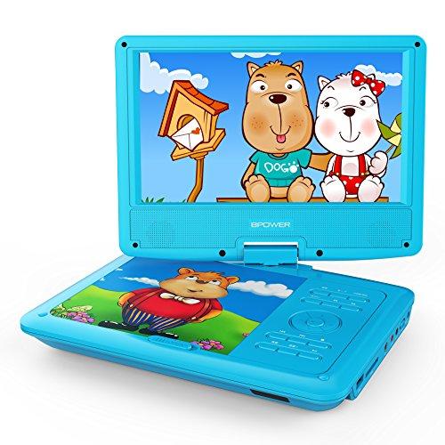 子供用 9型 ポータブルDVDプレーヤー DBPOWER 勉強用 幼児教育 目に優しい リージョンフリー CPRM 対応 TVと同期可能 SD/MS/MMCカード/USBに対応 24月保証 日本語説明書付属 ブルー