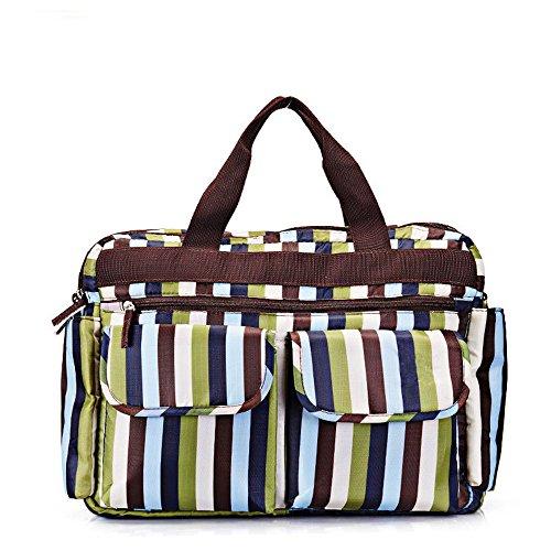 Rongtongda マザーズバッグ ママバッグ ベビー用品 収納バッグ ショルダーバッグ 大容量 軽量 斜めがけ トート  シンプル 多機能的   2way ストラップ付き