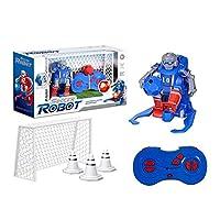 KISSION 子供用リモートサッカーロボット 2.4Gリモート制御ロボット 屋内屋外スポーツボールゲーム 子供向けRCサッカーロボット ER10キッズおもちゃ