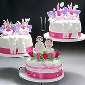シュガークラフトケーキ 3段ウエディングケーキ【15cm×3台】