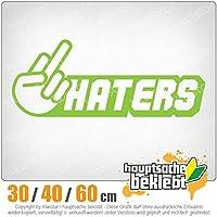 Haters - 3つのサイズで利用できます 15色 - ネオン+クロム! ステッカービニールオートバイ