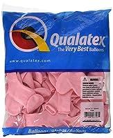 Qualatex風船 11インチ(28cm) ハート型ピンク 徳用100個入