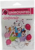 """Art Impressions Girlfriends Cling Rubber Stamp 3.625""""X4""""-Party Girls (並行輸入品)"""