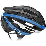 rh+(アールエイチプラス) ヘルメット ZY [ゼットワイ] マットブラック/アローマットブルー/ホワイト L/XL (58-62) ヘルメット 290g JCF公認 EHX6055 43