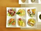 【M'home style】白い食器 kowake 6つ仕切り皿 ホワイトレベル2