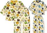 (ブーマート)BOO MART 2015 カラフルBOO総柄 脇ボタン付 前開き 長そでパジャマ 80cm オレンジ衿