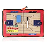 Lixada バスケットボールボード 作戦盤 戦術コーチングボード コーチ マグネット折りたたみ 消去可能 ファスナータイプ 作戦ボード
