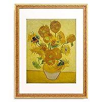 フィンセント・ファン・ゴッホ Vincent Willem van Gogh 「Vase with Sunflowers」 額装アート作品