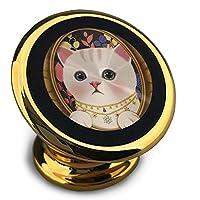 かわいい鏡の中の猫 車載ホルダー スマホスタンド マグネット式 360度回転可 着脱簡単 スマートフォン用 全機種対応 格好良く片手操作 円滑処理