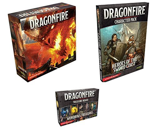 D & DドラゴンファイアDeckbuildingゲームバンドル: D & Dドラゴンファイアベースセット、Characterパック: Heroes of the Sword Coast , and Treasure Hoard : Wondrous Treasures