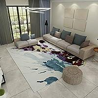 モダンなスタイルのリビングルーム、室内の柔らかいタッチの大きな家の床面積の敷物、重質の滑り止めのカーペット(120 Cm X 160 Cm) D/D/11/9 (Color : H, Size : 120 × 160cm)
