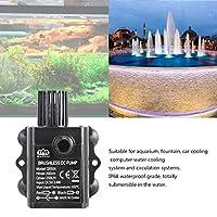 Ququack Decdeal超静音USBミニブラシレスDCウォーターポンプDC5V 2.4W 250L / Hリフト2m水中噴水水族館循環