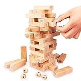 バランスゲーム 数学パズル DNYCF 52点セット 木製 ドミノ遊び 知育玩具 想像力|創造力|数字に強くなる