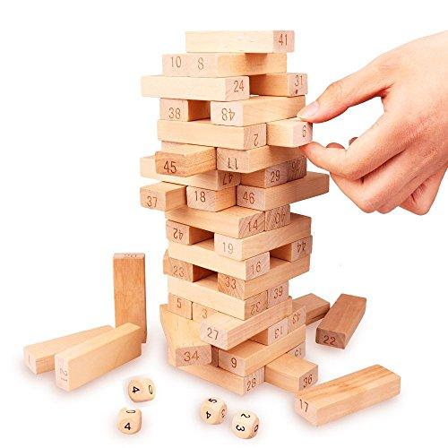 バランスゲーム 数学パズル DNYCF 52点セット 木製 ドミノ遊び 知育...