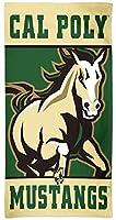 Cal Poly Mustangs NCAA 30x 60インチ寮ビーチタオル