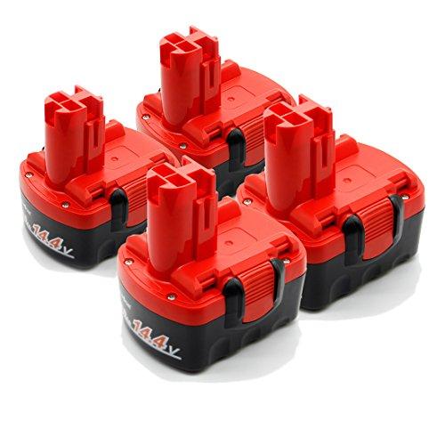 LENOGE ボッシュ 14.4V BAT038 BAT040 2607335** 互換 バッテリー 2Ah [四個セット] BOSCH 2607335711 2607335534 BAT041 BAT140 BAT159 工具用 ニカド電池 レッド