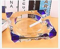 ホーム防風灰皿ガラス葉巻リビングルームオフィス屋内と屋外の灰皿(青) ( サイズ さいず : 20CM )