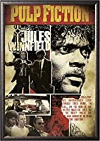 Framed Jules Winnfield Tribute–Quentin Tarantino 24x 36ポスターin Real Woodプレミアムシルバーミスト仕上げCrafted in USA
