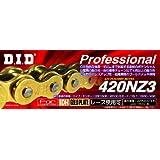 D.I.D(大同工業)バイク用チェーン クリップジョイント付属 420NZ3-120RB G&G(ゴールド) SDHピン加工 二輪 オートバイ用