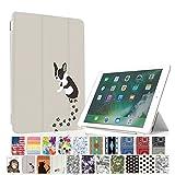 MIxUP 新型 iPad 9.7 2017 スマート カバー バック ケース オートスリープ 新型iPad (第5世代) 9.7インチ 2017 スタンド ケースカバー おしゃれ かわいい 動物 犬 いぬ フレンチ ブルドッグ MXP-5-ssANI-dog