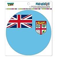 フィジーナショナルカントリー旗 - サークル MAG-格好いい'S(TM)カー/冷蔵庫マグネット